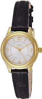 Timex Women's Quartz Watch, Analog Display and Leather Strap TW2R86100