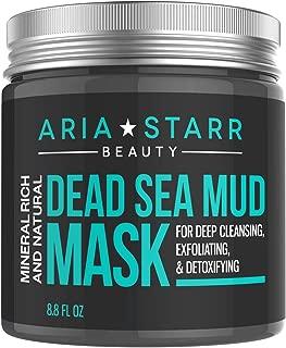 Aria Starr Totes Meer Schlamm Gesichtsmaske für Gesicht, Akne, ölige Haut u. Mitesser - beste Gesichts Poren Minimizer, Reduzierer. Poren Reiniger Behandlung - natürlich für jüngere schauende Haut 250g.