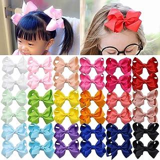 (7.6cm , 40 PCS(20pairs)) - Hair Bows Baby Girls Toddler 7.6cm 40 PCS Hair Clips for Girls Alligator Ponytail Pigtail Holder