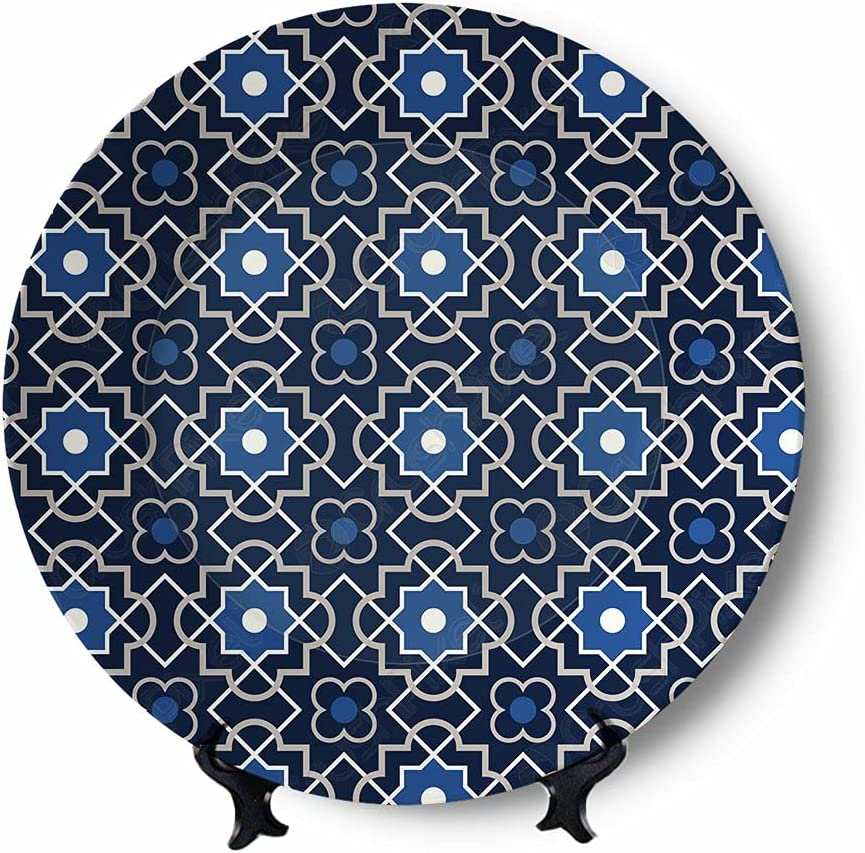 Blue Flower Ceramic Plates Free shipping / New Wall Hanging Exquisite High order Colors Decorat