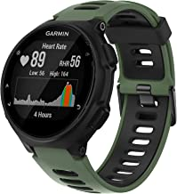 ANCOOL Compatible with Forerunner 735XT/220/230/235/620/ 630 Band,Soft Silicone Sport Strap Replacement Wristband for Garmin Forerunner 735XT Smartwatch Accessory -Olive Green