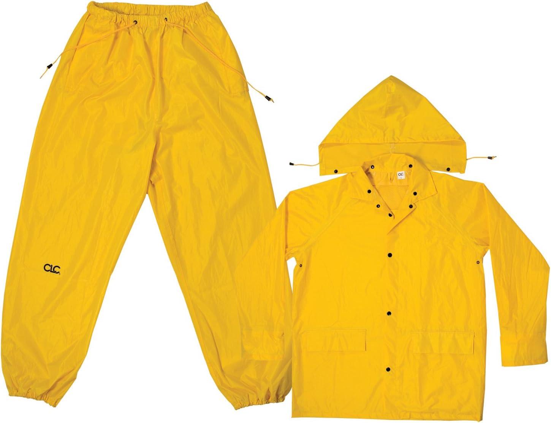 CLC Custom Leathercraft Rain Wear R102M Yellow Polyester 3-Piece Rain Suit - Medium