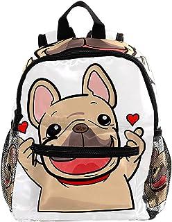 Daypack Lindo Perro Pug Mochila para Niños 3-8 Años Mochila Infantiles Bolsas Escolares de Niños Niñas 25.4x10x30 CM