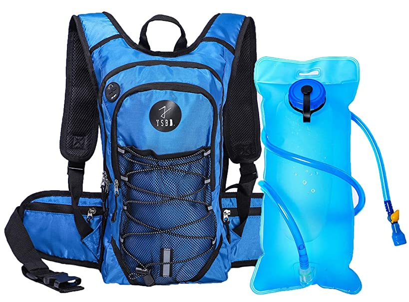 YSBD Hydration Pack & 2L TPU Water Bladder - High Flow Bite Valve Hydration Backpack Included for Running, Hiking, Cycling, Camping , Climbing Pouch,Rowing