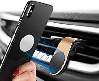 Magnetic Phone Car Mount, [Super Strong Magnet ] 2 Metal Plate Universal Air Vent Stand 360° Rotation GPS Car Phone Holder Compatible with Apple for iPhone, for Samsung LG,Mini Tablet All Cell Phones