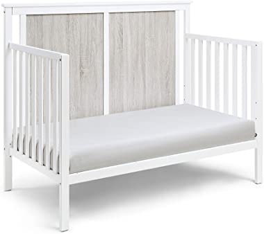 Suite Bebe Connelly 4 in 1 Convertible Crib in White with Rockport Gray Wood