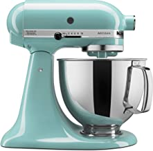 KitchenAid KSM150PSAQ Artisan Series 5-Qt. Stand Mixer with Pouring Shield – Aqua Sky