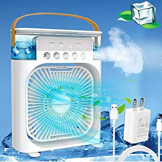 Portable Air Conditioner Fan,Personal Air Cooler Mini Quiet Evaporative with AC adapter, Humidifier Misting Fan, 2/4/6 H T...