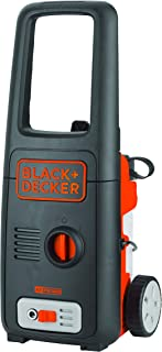 Black+Decker 1400W 110 Bar Pressure Washer, Black/Orange, 10.5 x 18.8 x 12.1 inches, BXPW1400E-B5
