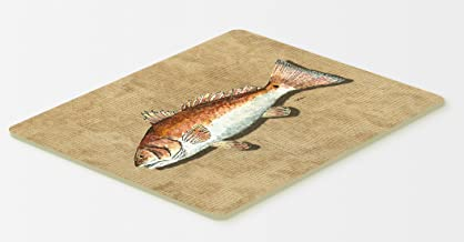 Caroline's Treasures 8807CMTRed Fish Kitchen or Bath Mat, 20 by 30, Multicolor
