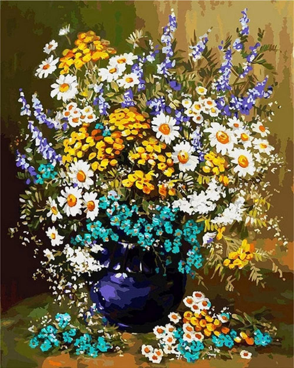 HRKDHBS Paint by Numbers Max 76% OFF Beautiful DIY Acrylic Oil Superior Painti Flower
