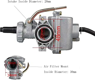 DUILU Carburetor 20mm for Motorcycle 4 stroke, for TaoTao Handa 50cc 70cc 90cc 110cc 125cc Motorcross Engine Accessories & Dirt Bike & ATV