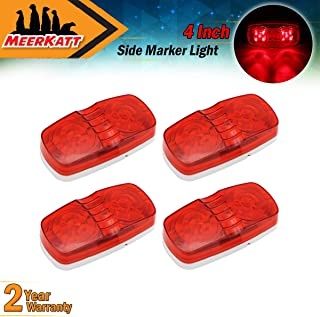 White Rectangle Mount Bulb Double Bullseye 10 LED Marker Lights SMD Super Bright Indicator Lamp Universal for Trailer Truck Caravan Lorry ATV Cabin Pickup Jeep Bus RV 12V DC RO12 Pack of 10 Meerkatt