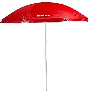 Cressi Beach Umbrella Premium Portable Beach Umbrella - Red, One Size