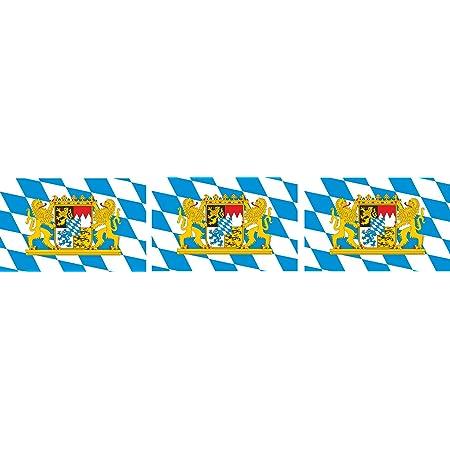 Kiwistar Aufkleber 4 5 X 2 3 Cm Bayern Bundesland Autoaufkleber Deutschland Flagge Länder Wappen Fahne Sticker Kennzeichen Auto
