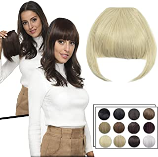 Clip in Bangs Fringe Hair Extensions with Temples Synthetic Fashion Hair-pieces Bleach Blonde