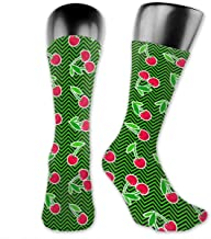 Compression Stockings Ripe Cherries Tube Socks For Running, Travel, Athletic, Medical,Pregnancy And Nurse