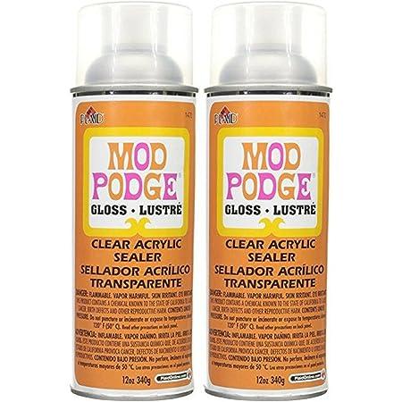 Mod Podge 1470 Clear Acrylic Sealer, 12 oz, Gloss (2)