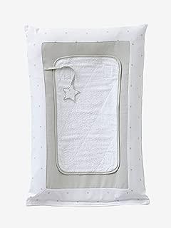 Vertbaudet Housse pour Matelas /à Langer Motif Lapin Imprim/é en Blanc Taille Unique
