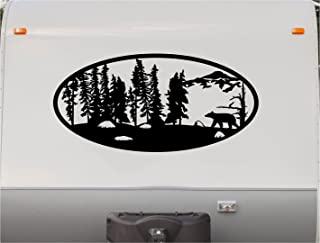 Trees Bear Hunting Mountains Motor Home Stripe Kit- RV Stickers - Trailer Stickers- Camper Vinyl Decal- Sticker Graphic- Motorhome Decals- RV Stripe Kit-