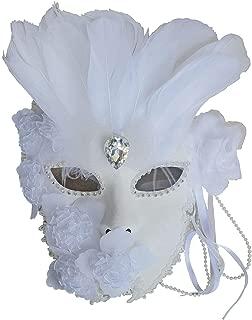 Flower Venetian Masquerade Full Face Lace Women Eye Mask for Costume Mardi Gras, Wall Decorative Art