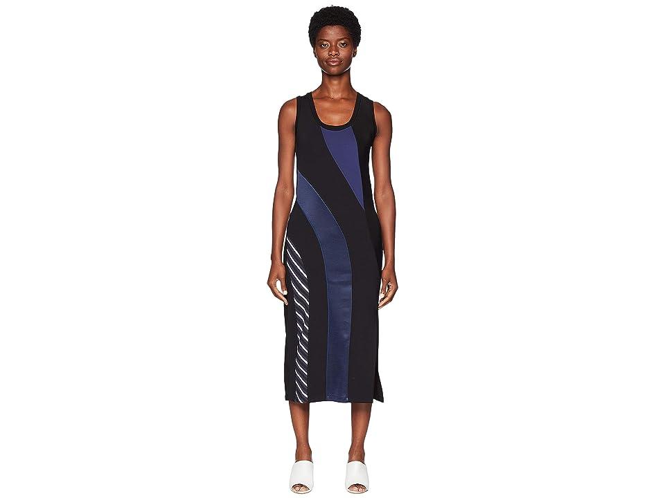 Sportmax Canon Stripe Sleeveless Dress (Black) Women