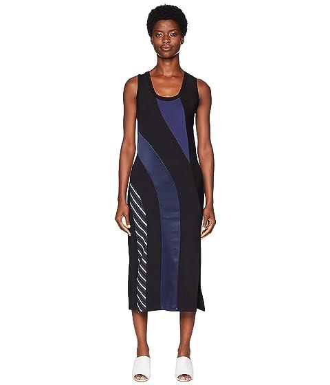 Sportmax Canon Stripe Sleeveless Dress