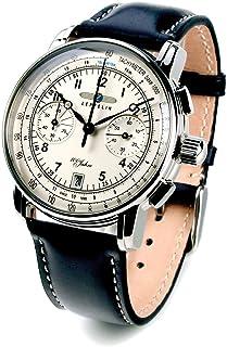 ツェッペリン ZEPPELIN 腕時計 7674-1 100周年記念 クォーツ 42mm レザーベルト [並行輸入品]