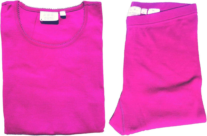 SHEEP RUN Womens 100% Merino Wool Thermal Underwear Top and Pants