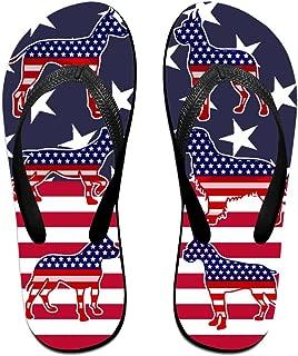 Casual Beach Flip Flops Mens Womens EVA Non-Slip Beach Sandals America Independence Day Holiday Travel Flip Flops