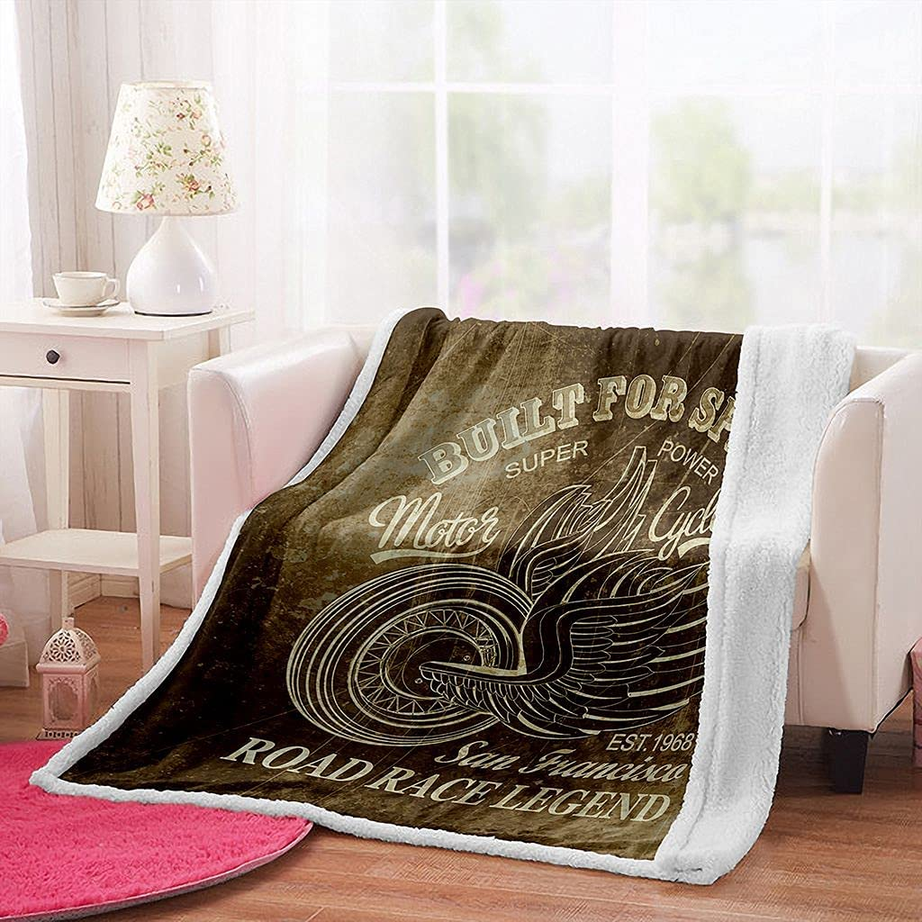 Vintage Blanket Motorcycle San Weighted Francisco Blanke National products Ranking TOP8