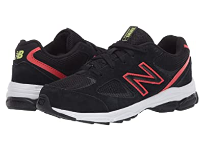 New Balance Kids PK888v2 (Little Kid) (Black/Neo Flame) Boys Shoes