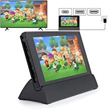 Switch Charger Dock, Compatible for Nintendo TV Dock Station HDMI adapter, Portable Charging Docking Playstand Compatible ...