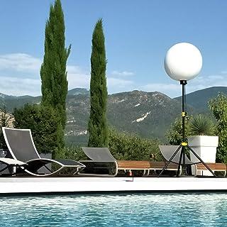 ORIZEO Ballon éclairant uniforme LED 200w Lumineux Mobile gonflable pour Terrasse et Jardin Angle d'éclairage 360° Lampada...
