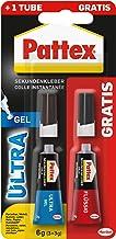Pattex Secondelijm Ultra Gel, extra sterke en flexibele superlijm, stoot- en waterbestendig, voor bijvoorbeeld rubber, lee...