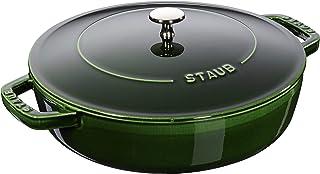 Staub 40511479/0Basil with Chistera Cast Iron Oval Casserole, 24cm