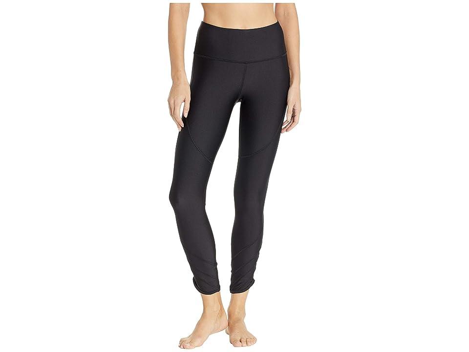 Under Armour UA HeatGear Fashion Ankle Crop (Black/Metallic Silver) Women's Workout