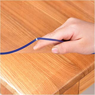 Table Cover Glass Dust-proof High Stability No-wash PVC Table Cloth Used for Dining Table, Restaurant, TV Cabinet, 2.0mm, ...