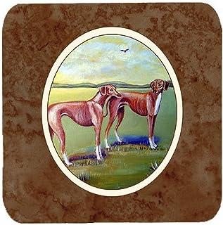 "Caroline's Treasures 7001FC Azawakh Hound Foam Coasters (Set of 4), 3.5"", Multicolor"