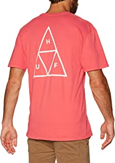 Huf Essentials Triple Triangle Short Sleeve T-Shirt Small Cayenne