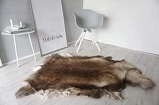 MILABERT Genuine Super Soft - Extra Large Scandinavian Reindeer Skin - Rug | Hide | Pelt - RE 385
