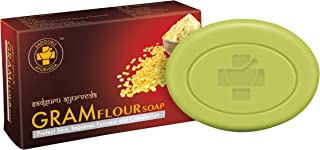 Sadguru Ayurveda Gram Flour Soap (75g) (8 SOAPS PACKED IN A PET JAR)