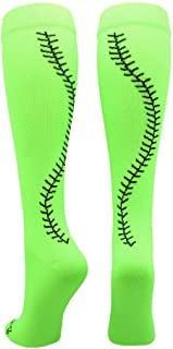 MadSportsStuff Softball Socks with Stitches Over The Calf...