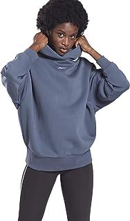 Reebok SR Oversize Hoodie Sweatshirt à Capuche Femme, Bleu (smoind), XXS