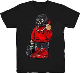 Gym Red 12 Trap Bear Shirt to Match Jordan 12 Gym Sneakers Black t-Shirts