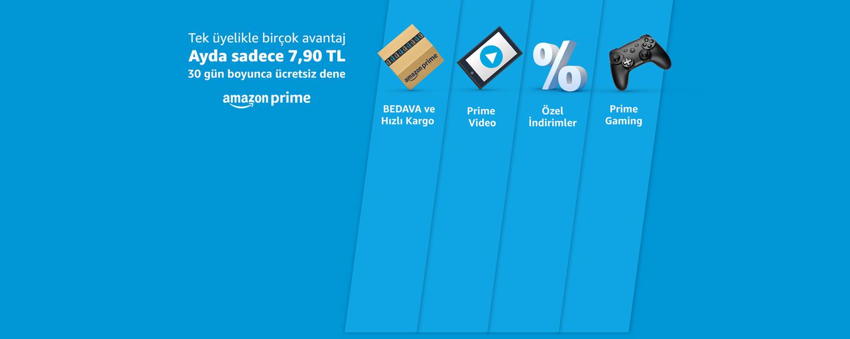 Amazon Prime ile tek üyelikte birçok avantaj ayda sadece 7,90 TL