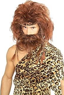 Costume Bushy Caveman Short Beard and Wig Set