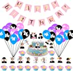 Bangtan Boys Party Supplies, Bangtan Boys Birthday Gift Set for ARMY 1 Pack Banner 40 Pack Party Balloons 40 Pack Cake Toppers