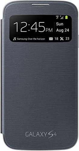 new arrival Samsung Original Smart Wake & sale Sleep S-View Flip high quality Cover Folio Case for The Galaxy S4 (Black) - Retail Packaging sale