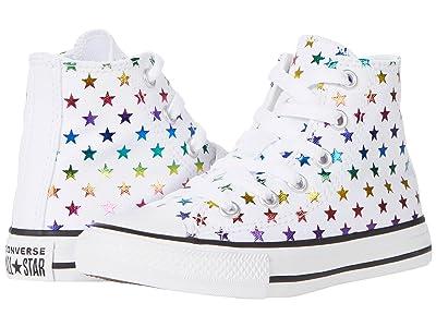 Converse Kids Chuck Taylor(r) All Star(r) Archive Foil Star Print Hi (Little Kid/Big Kid)